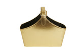 "12"" Gold Faux Leather Tote-Wald Imports"