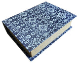 Navy & Cream Damask Pattern Decorative Storage Book-Wald Imports