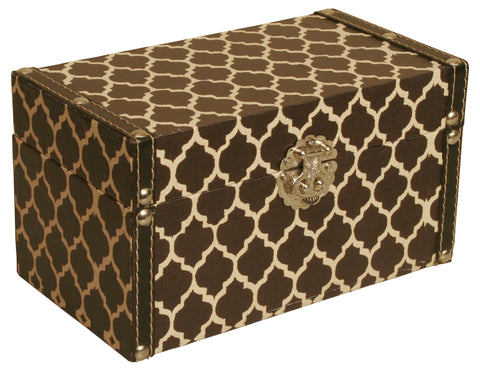 Black & White Trellis Decorative Storage Box