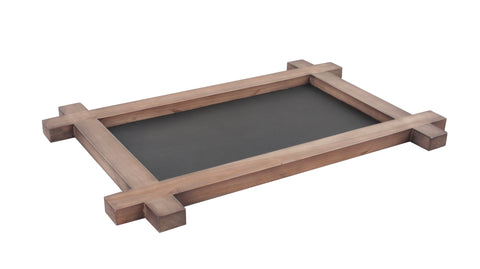 Wooden Serving Tray with Chalkboard, Food Safe