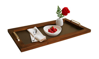 HOME DÉCOR Wooden Serving Tray with Chalkboard & Handles-Wald Imports