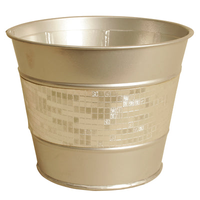 "5"" Sparkly Metal Planter-Wald Imports"