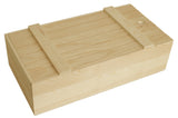 Double Wine Box w/Slatted Sliding Lid-Wald Imports