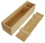 Single Wine Box w/Slatted Sliding Lid-Wald Imports