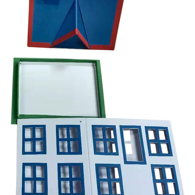 Blue & White Novelty Paperboard House, Large