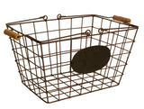 Wire Basket w/Chalkboard, Medium