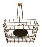 Wire Basket w/Chalkboard, Medium-Wald Imports