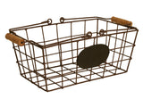 Wire Basket w/Chalkboard, Small