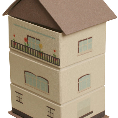 Beige Paperboard House Stackers-Wald Imports