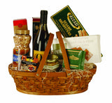 "15"" Woodchip Basket with Handle"