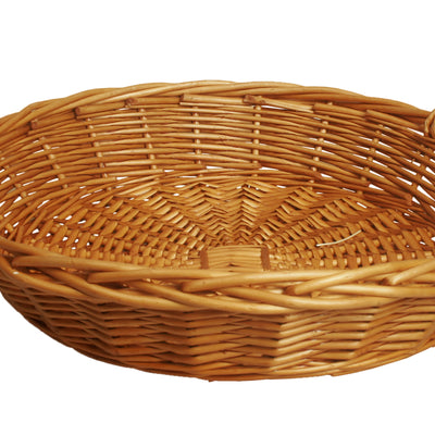 "22"" Round Honey Willow Basket-Wald Imports"
