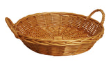 "22"" Round Honey Willow Basket"