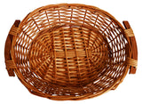 "16"" Willow Tray w/Wood Handles-Wald Imports"