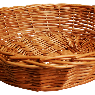 "19"" Willow Tray w/Wood Handles-Wald Imports"