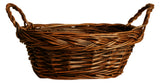 "10"" Dark Brown Oval Willow Basket-Wald Imports"
