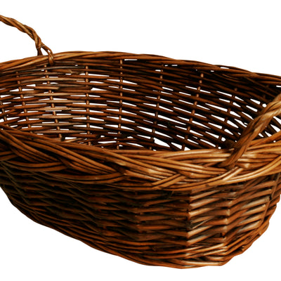 "14"" Dark Brown Oval Willow Basket-Wald Imports"