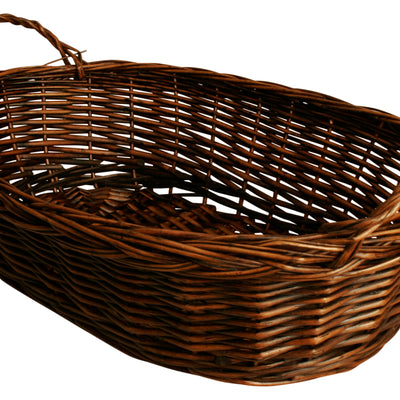 "20"" Dark Brown Oval Willow Basket-Wald Imports"