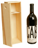 WINE BOX Single Wine Box w/ Sliding Lid-Wald Imports