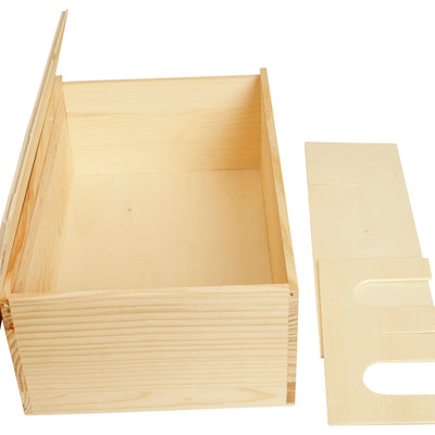 Double Wine Box w/Sliding Lid-Wald Imports