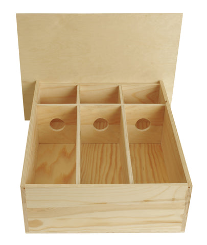 Triple Wine Box w/Sliding Lid