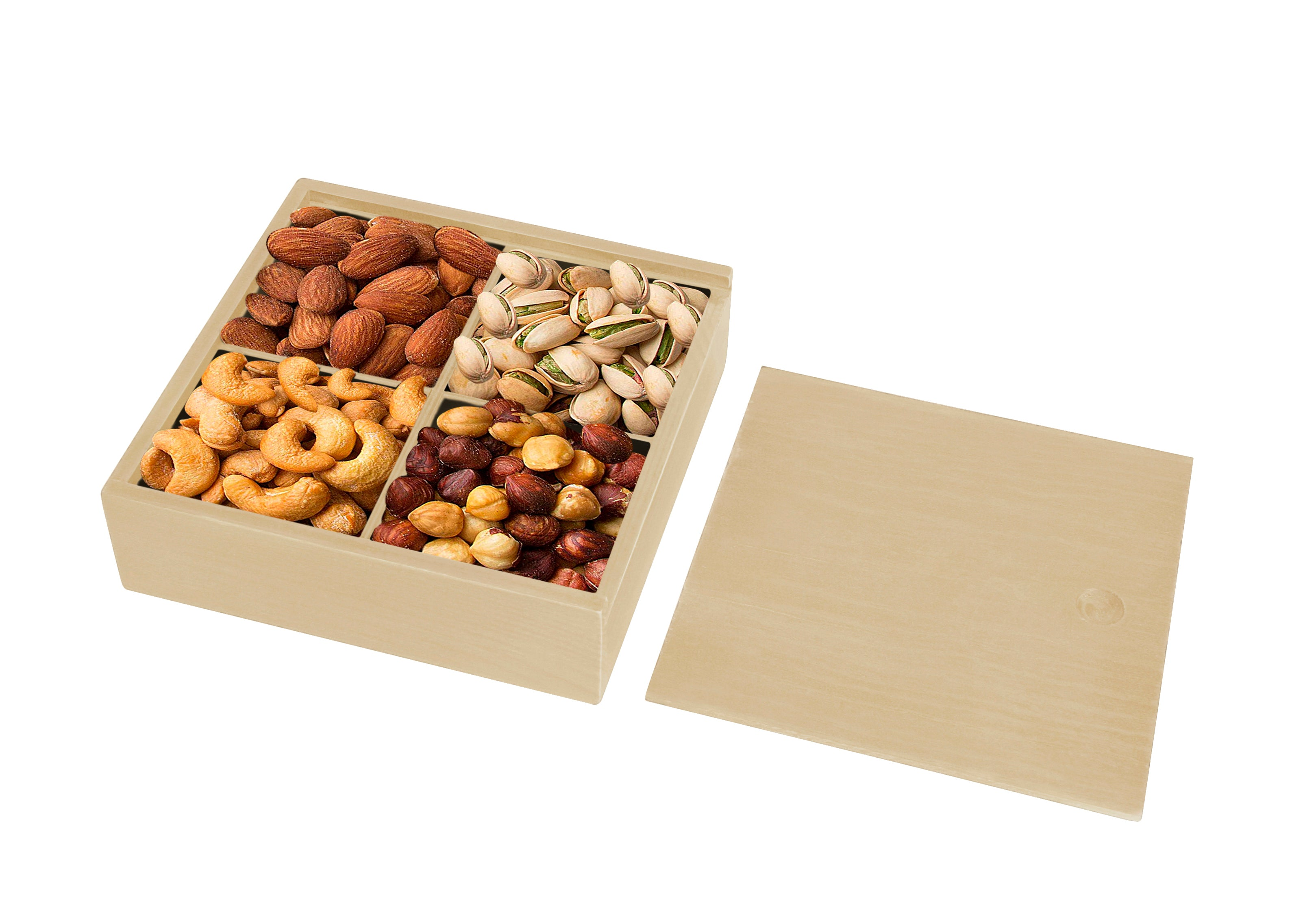 Medium Wood Storage Tray w/Sliding Lid-Wald Imports