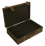 Brown Faux Leather Suitcase