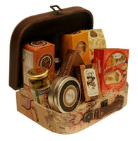 Suitcase Map Faux Leather Suitcase-Wald Imports