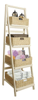Display Whitewash Wood Ladder-Wald Imports
