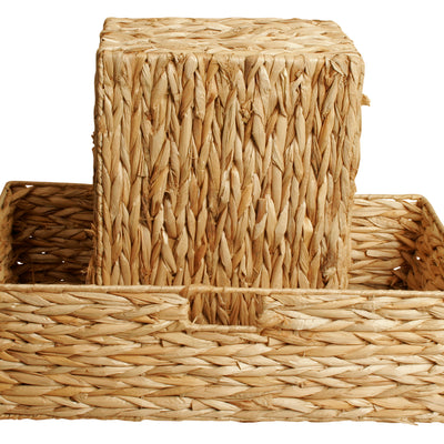 Set of 2 Seagrass Woven Baskets-Wald Imports