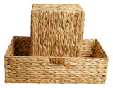 Set of 2 Woven Seagrass Storage Baskets-Wald Imports