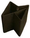 "7"" Collapsible Tote, Black Canvas-Wald Imports"