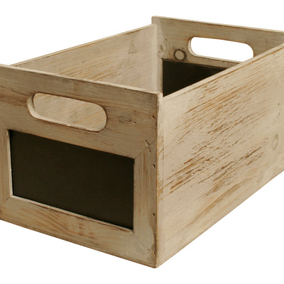 Set of 3 Gray Wash Distressed Storage Boxes-Wald Imports