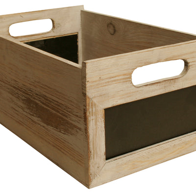 Single Distressed Wood Crate with Chalkboards-Wald Imports