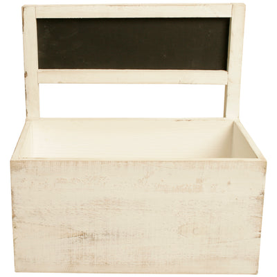 Set of 2 Distressed Plant Boxes with Chalkboards-Wald Imports