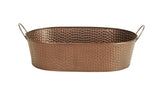 "14"" Oval Copper Tint Hammered Metal Planter-Wald Imports"