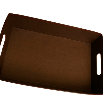 "17"" Brown Paperboard Tray-Wald Imports"