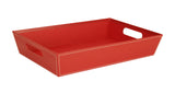 "17"" Red Decorative Tray-Wald Imports"