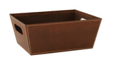 "10"" Brown Faux Leather Tray-Wald Imports"