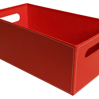 "13"" Red Paperboard Tote-Wald Imports"