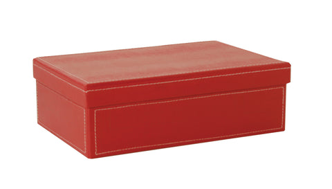 "9.5"" Red Paperboard Box W/Lid-Wald Imports"