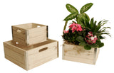 Set of 3 Whitewash Wood Crates-Wald Imports