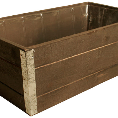 Graywash Wood Planter-Wald Imports