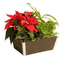 Gray wash Wood Planter-Wald Imports