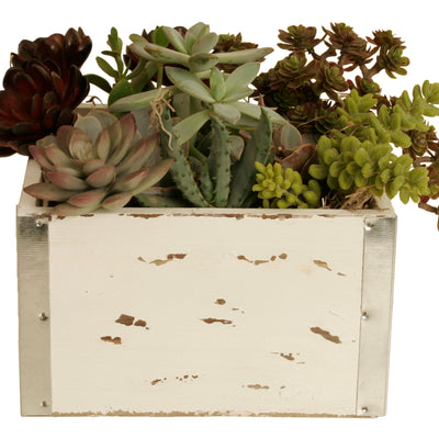 Set of 3 White Wood Crates-Wald Imports