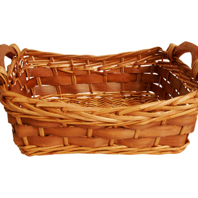 "12"" Carved Willow Basket-Wald Imports"
