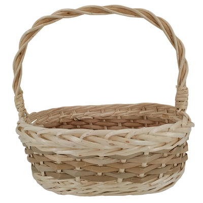 "17"" Oval Two-Toned Willow Basket"