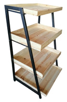 HOME DÉCOR Four Tier Storage Shelf w/Wood Trays-Wald Imports