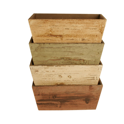 "Double 4"" Planter Assortment-Wald Imports"