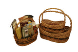 Set of 3 Tuscana Wood Chip Handled Baskets-Wald Imports