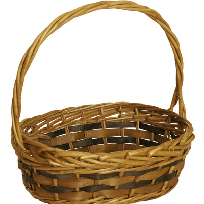 Tuscana Wood Chip Handled Basket-Wald Imports